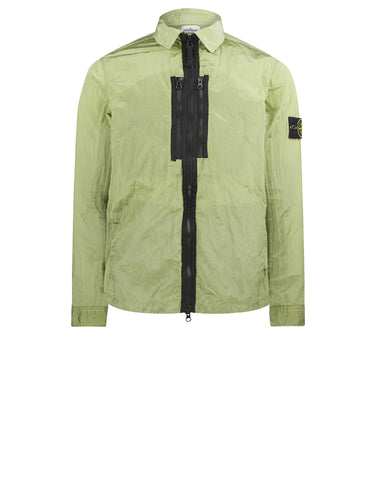 12144 NYLON METAL Overshirt in Green