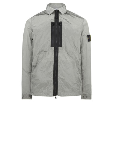 12144 NYLON METAL Overshirt in Grey