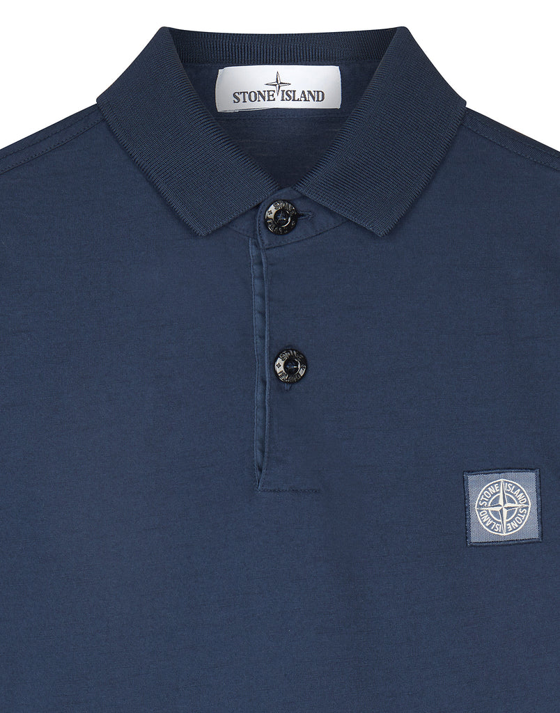 22066 Long sleeve Polo Shirt in Blue