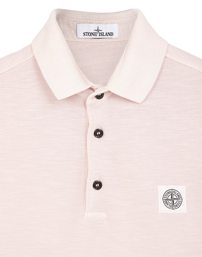 23053 'FISSATO' DYE TREATMENT Polo Shirt in Pink
