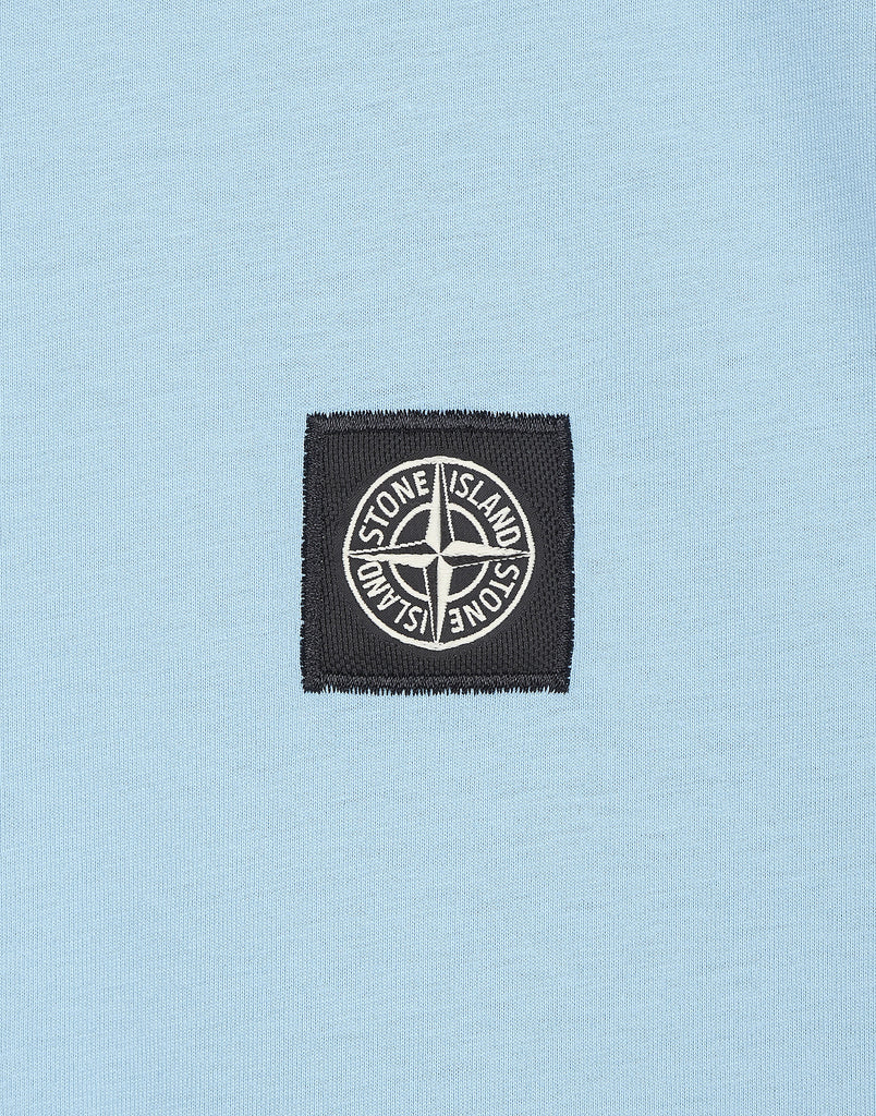 24141 Small Logo Patch T-Shirt in Light Blue