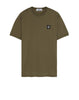 24141 Small Logo Patch T-Shirt in Khaki