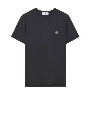 24141 Small Logo Patch T-Shirt in Dark Grey