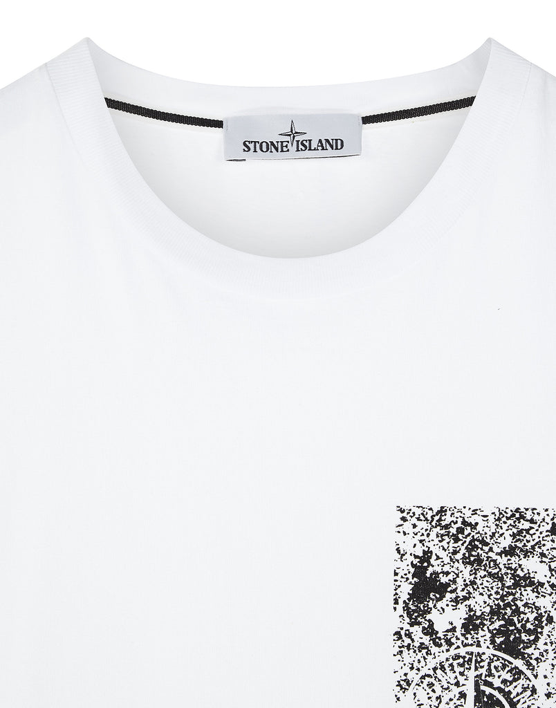 2NS84 Chest Corrosion T-Shirt in White
