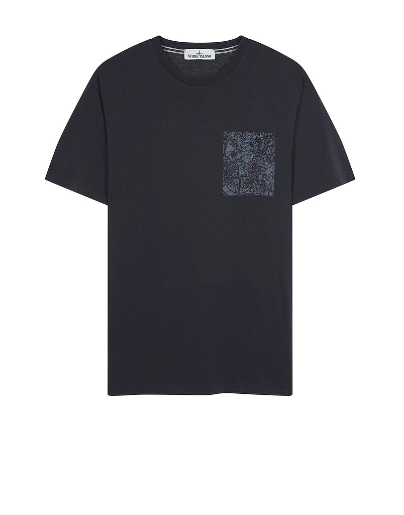 2NS84 Chest Corrosion T-Shirt in Navy