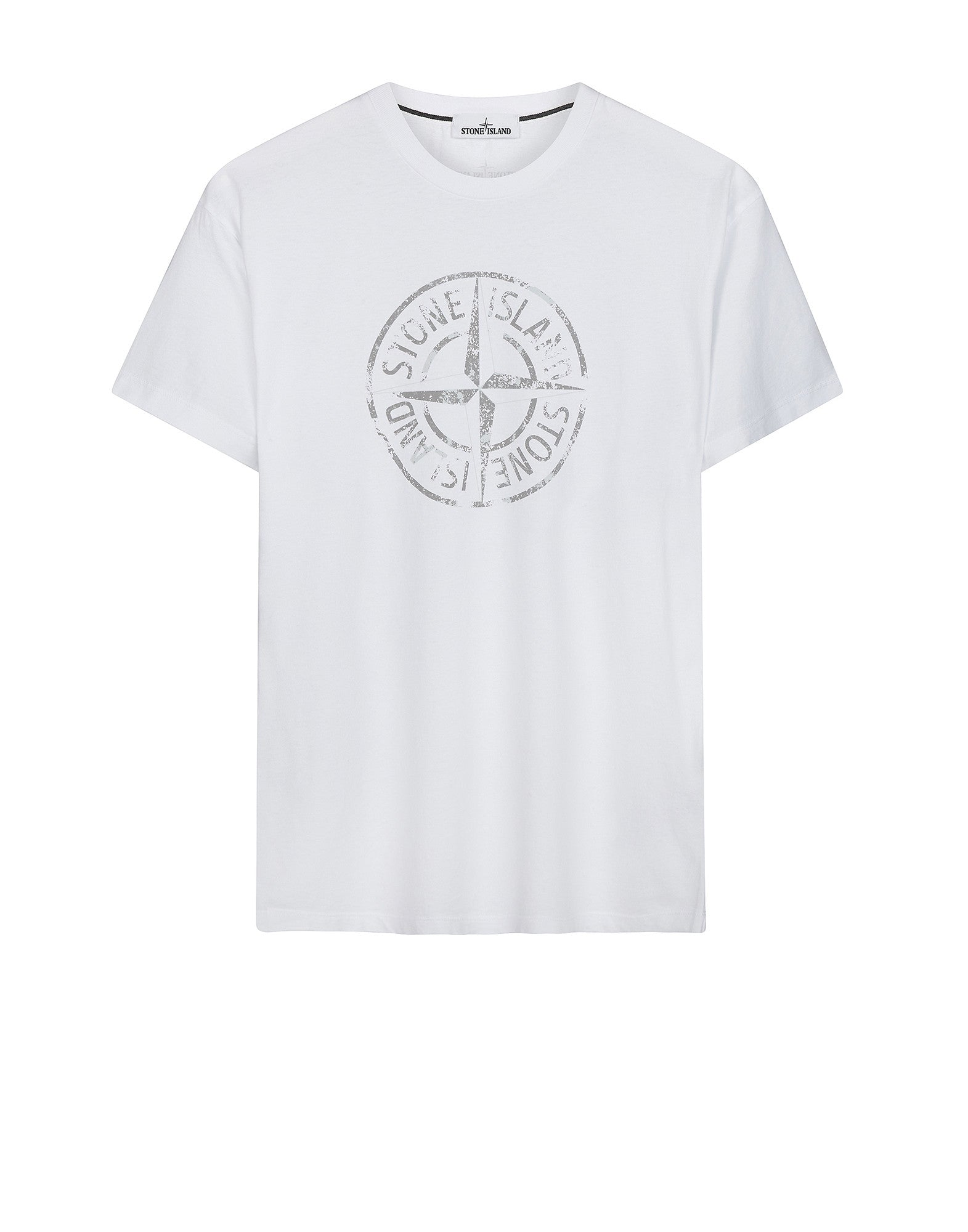 2NS87 'STONE ISLAND' T-Shirt in White