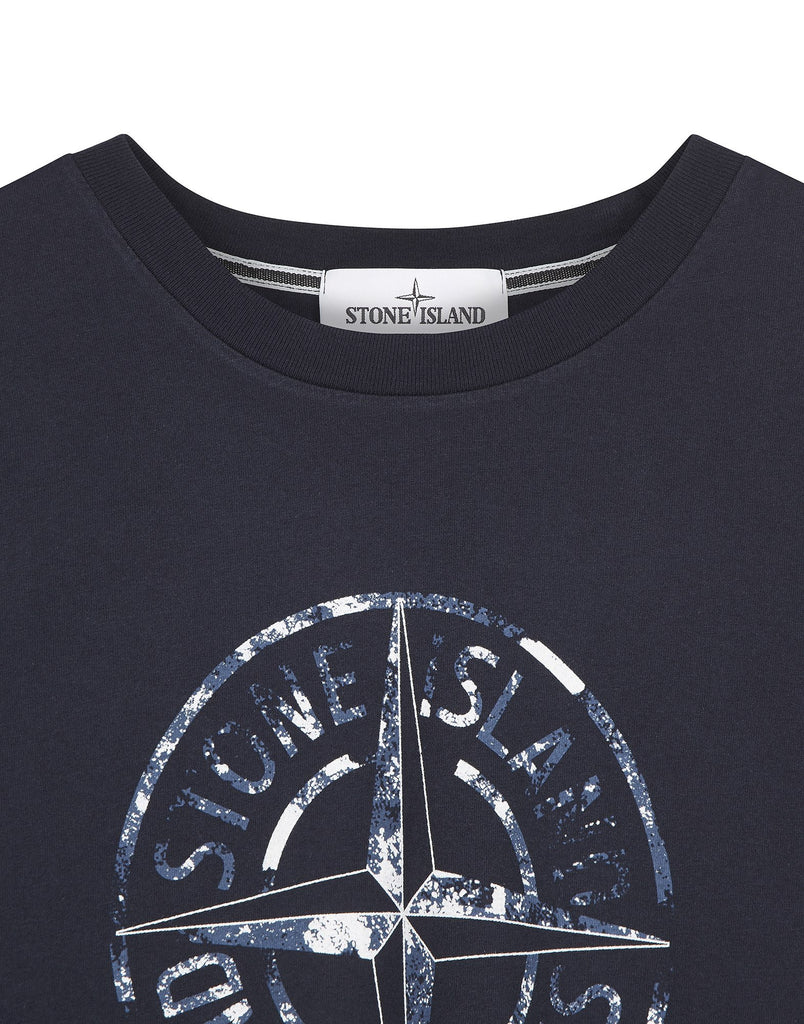 2NS87 'STONE ISLAND' T-Shirt in Navy Blue