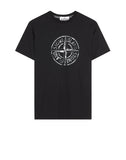 2NS87 'STONE ISLAND' T-Shirt in Black