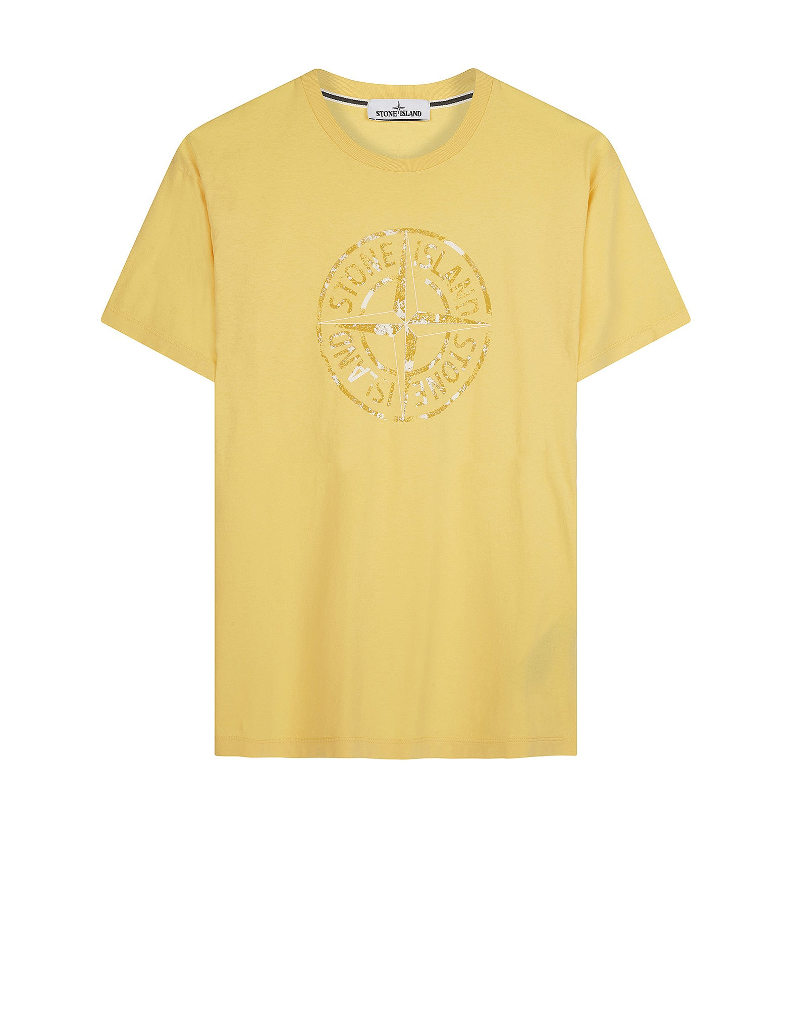 2NS87 'STONE ISLAND' T-Shirt in Yellow