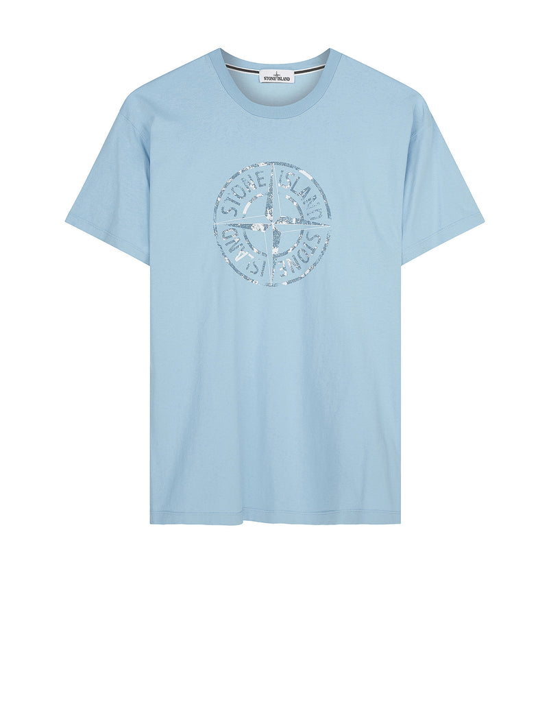 2NS87 'STONE ISLAND' T-Shirt in Light Blue