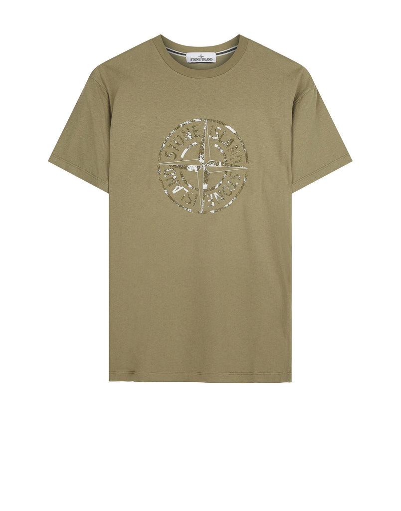 2NS87 'STONE ISLAND' T-Shirt in Khaki