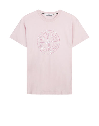 2NS87 'STONE ISLAND' T-Shirt in Pink