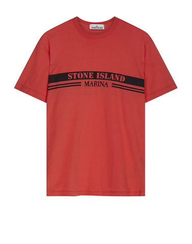 2NSXE STONE ISLAND MARINA T-shirt in Red