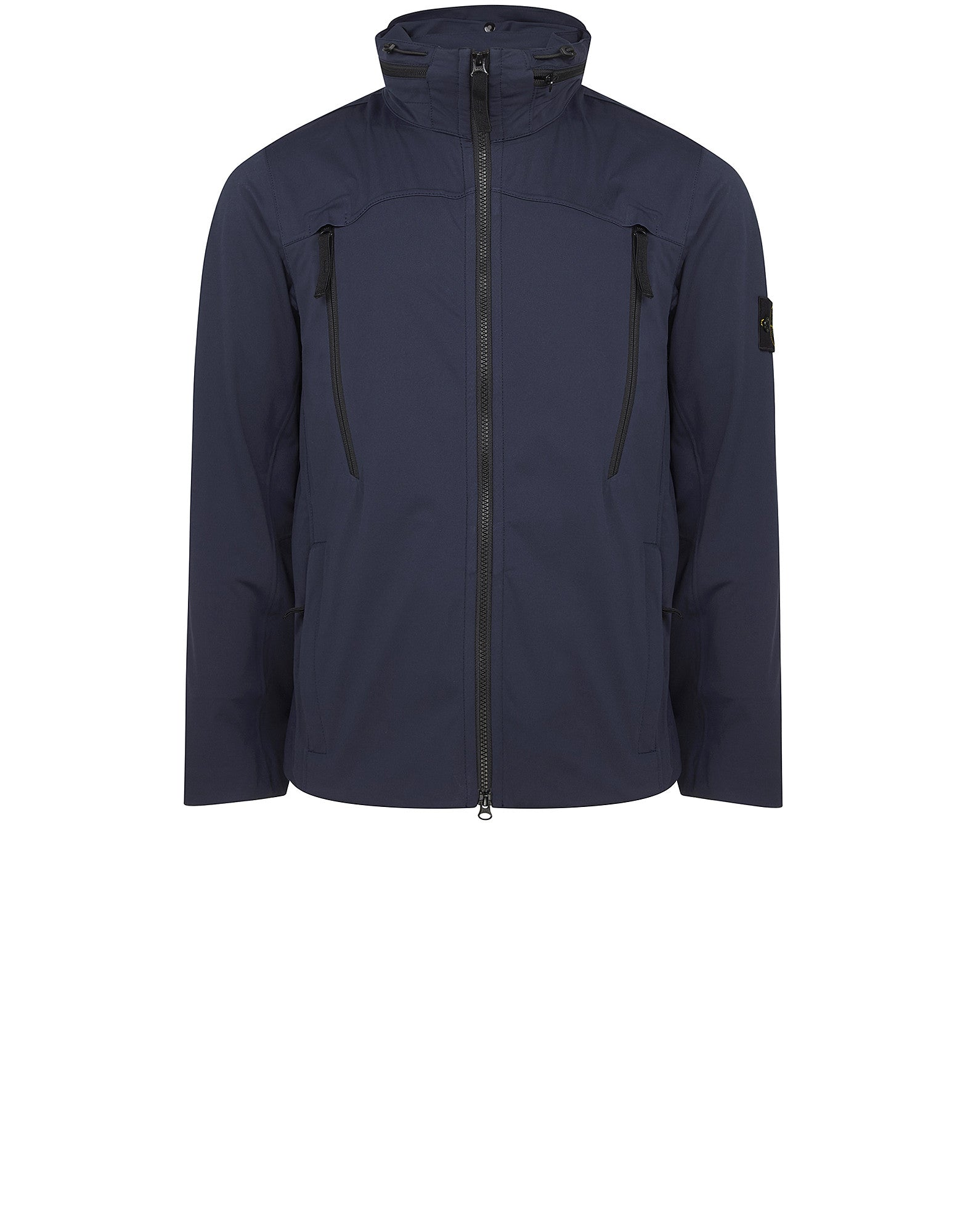 41826 LIGHT SOFT SHELL SI CHECK GRID Jacket in Blue