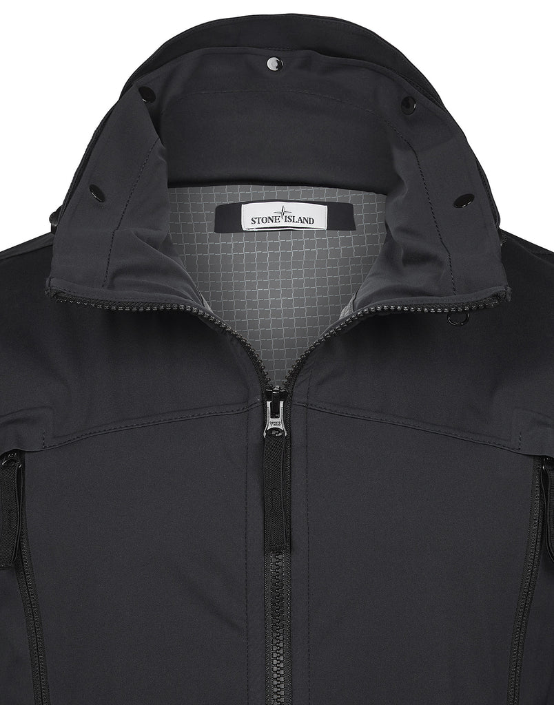 41826 LIGHT SOFT SHELL SI CHECK GRID Jacket in Black