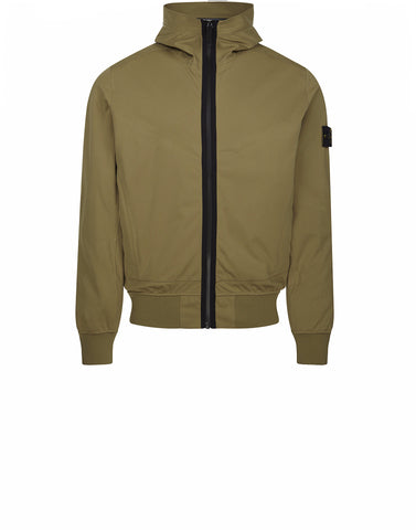 42026 LIGHT SOFT SHELL SI CHECK GRID Jacket in Khaki