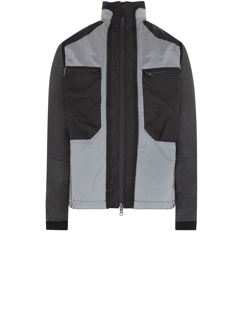 450S7 GARMENT DYED PLATED REFLECTIVE WITH MUSSOLA GOMMATA Jacket in Black