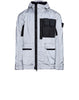453S6 GARMENT DYED PLATED REFLECTIVE WITH MUSSOLA GOMMATA Jacket in Navy