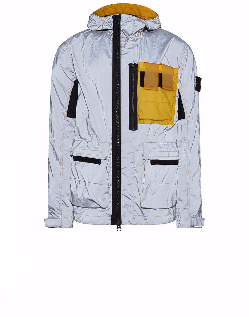 453S6 GARMENT DYED PLATED REFLECTIVE WITH MUSSOLA GOMMATA Jacket in Yellow
