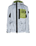 453S6 GARMENT DYED PLATED REFLECTIVE WITH MUSSOLA GOMMATA Jacket in Green