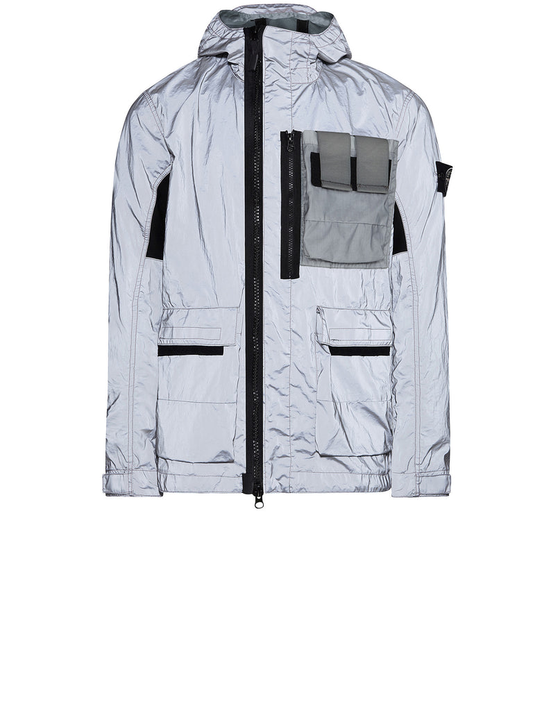 453S6 GARMENT DYED PLATED REFLECTIVE WITH MUSSOLA GOMMATA Jacket in Grey