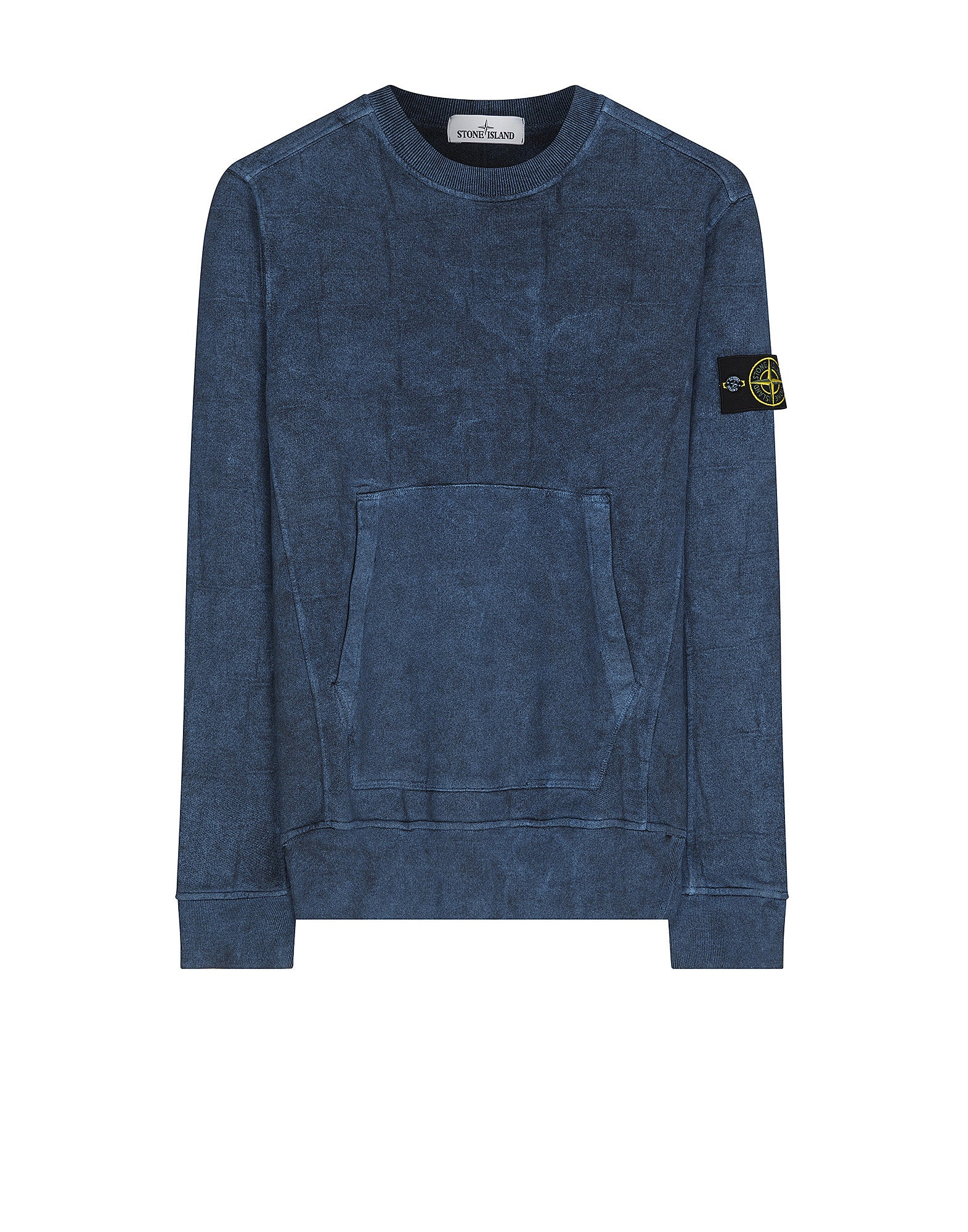610J3 SI HOUSE CHECK WITH DUST COLOUR TREATMENT Sweatshirt in Blue