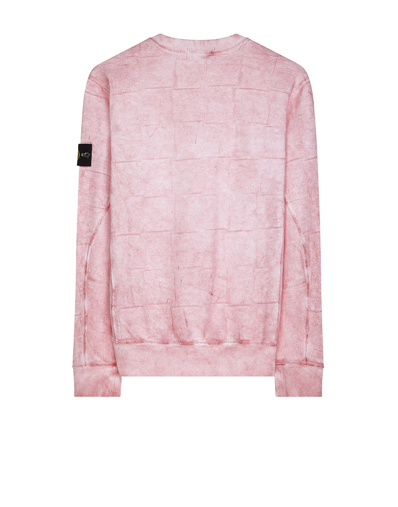 610J3 SI HOUSE CHECK WITH DUST COLOUR TREATMENT Sweatshirt in Pink