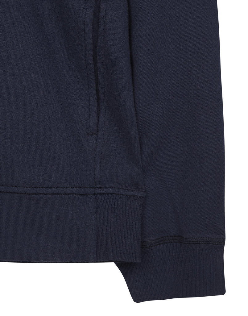 63258 Zip Cotton Sweatshirt in Navy Blue