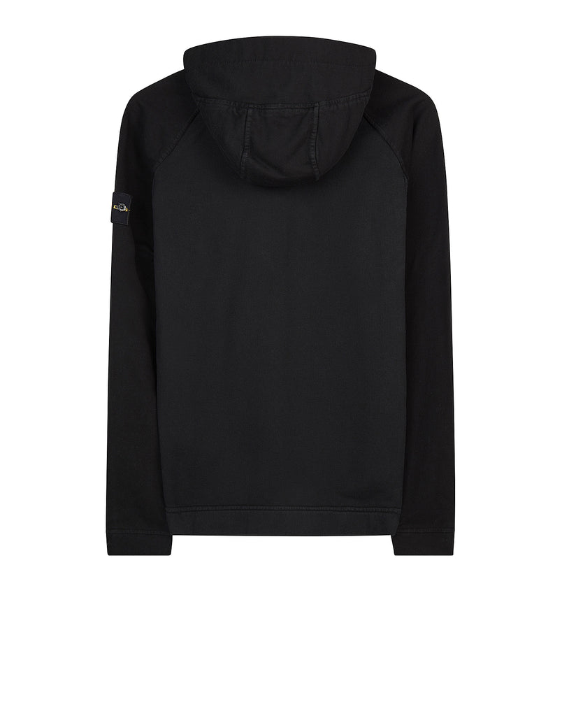 63740 Hooded Cotton Sweatshirt in Black