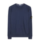 65360 Washed Crew Sweatshirt in Blue