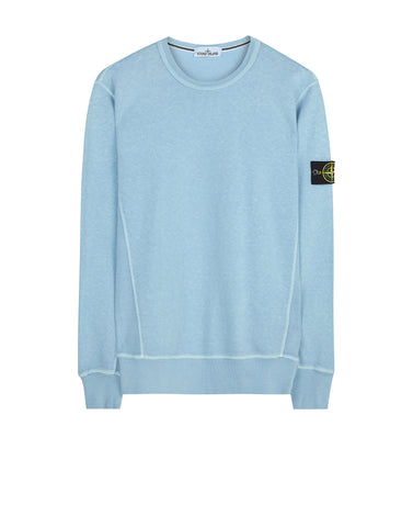 65360 Washed Crew Sweatshirt in Light Blue