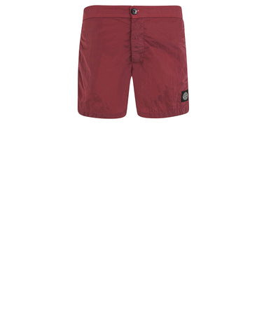 B0744 NYLON METAL Shorts in Red