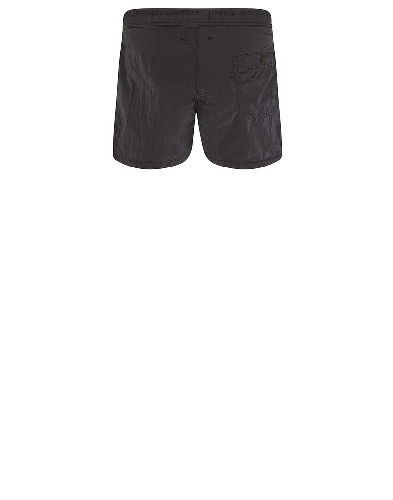 B0744 NYLON METAL Shorts in Black