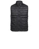G0724 GARMENT DYED MICRO YARN DOWN_PACKABLE Vest in Black