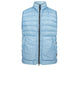 G0724 GARMENT DYED MICRO YARN DOWN_PACKABLE Vest in Light Blue