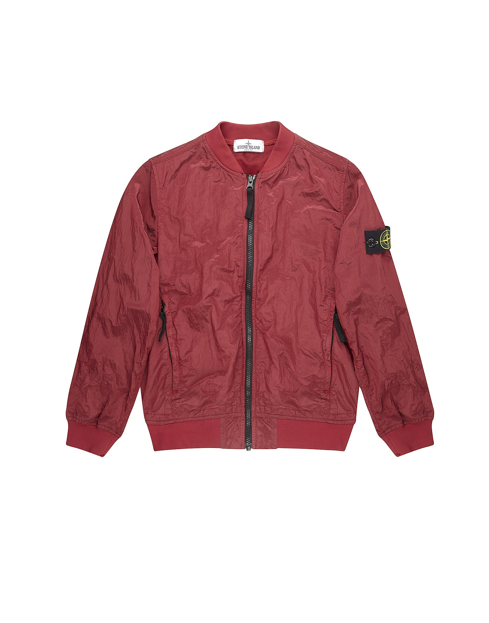 40513 NYLON METAL Bomber jacket in Red