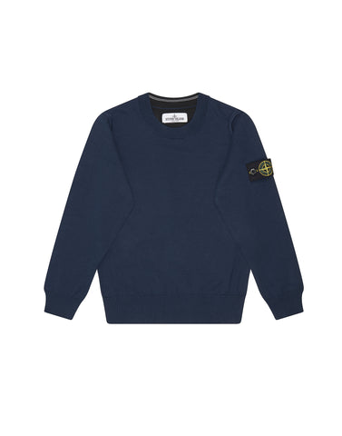 504A4 CONTRAST CREWNECK SWEATER IN BLUE