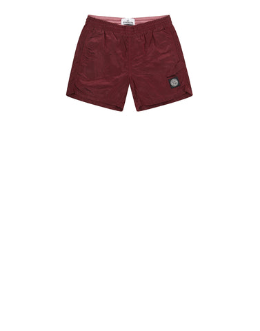 B0213 NYLON METAL Swim Shorts in Red
