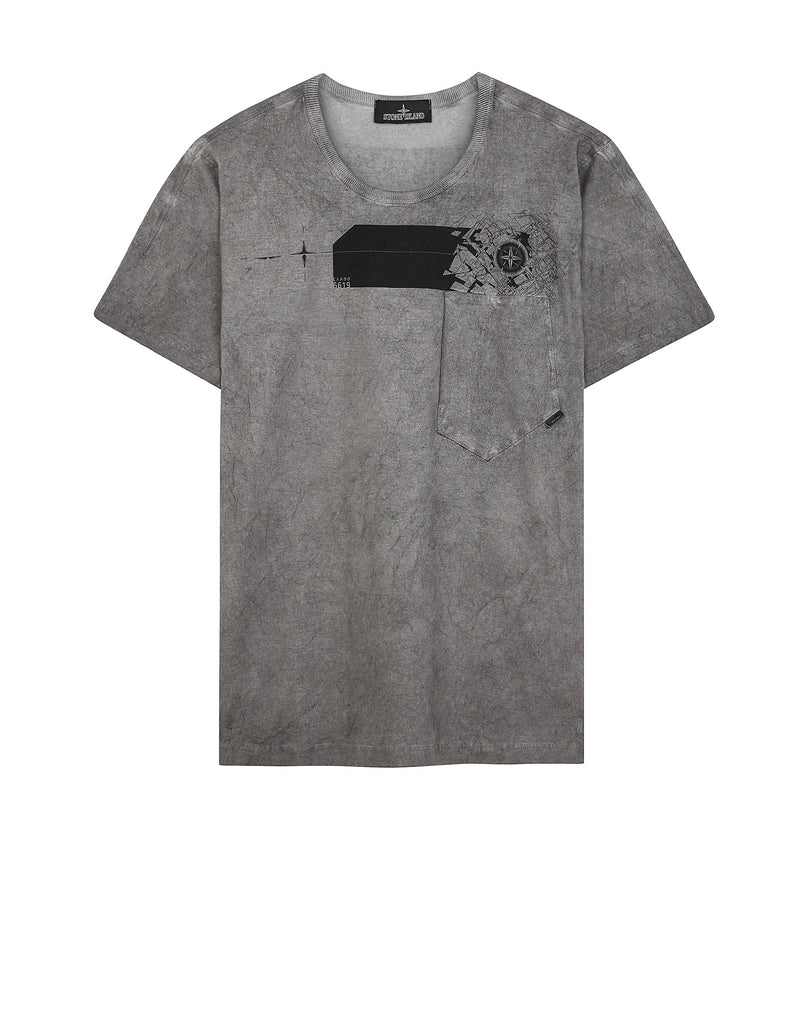 20111 COTTON JERSEY CATCH POCKET-T T-shirt in Grey