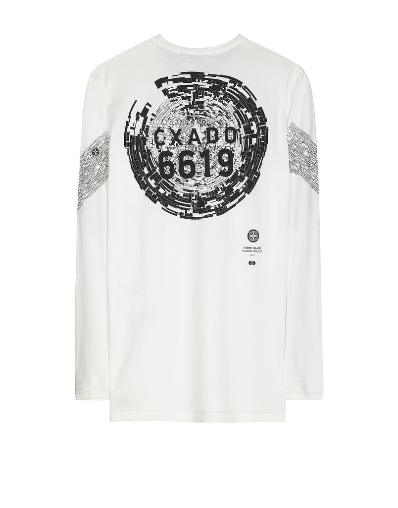 20310 CATCH POCKET-T LONG SLEEVE T-Shirt in White