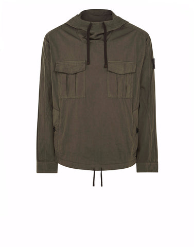 40106 SHIRT ANORAK WITH GATEWAY POCKETS IN GREEN