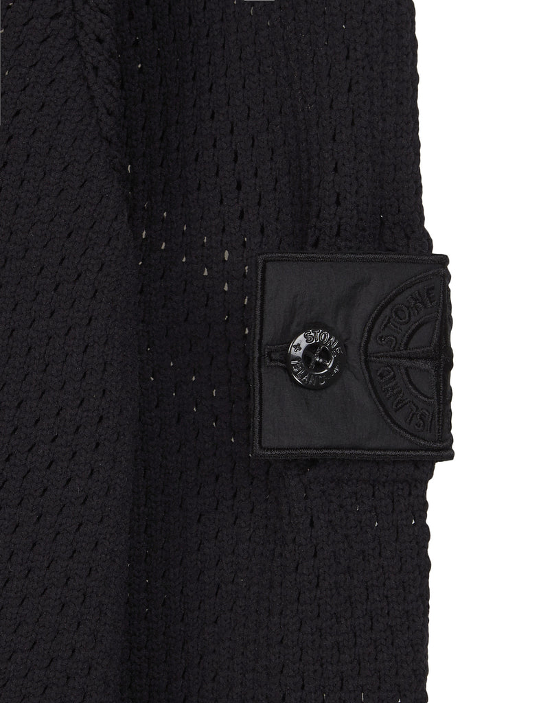 501A2 TWIN ZIP MESH HOODIE Knit in Black
