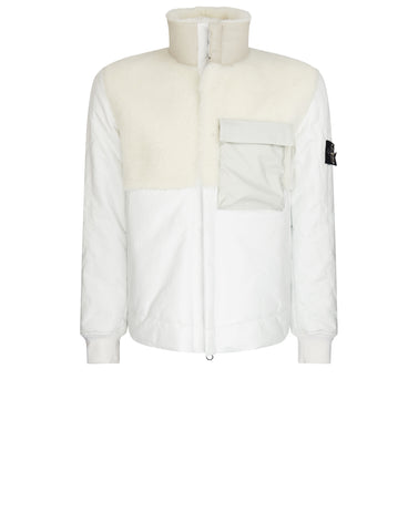 00178 FEATHERWEIGHT LEATHER DOWN Jacket in White