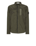 11612 NYLON METAL Overshirt in Green