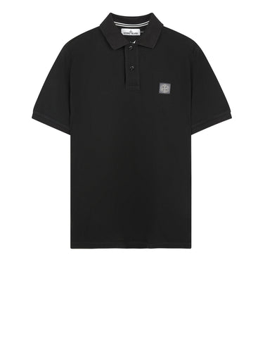 22C15 Cotton Pique Polo Shirt in Dark Forest