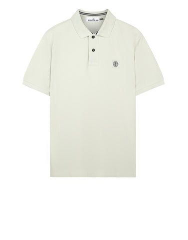 22C15 Cotton Pique Polo Shirt in Light Grey