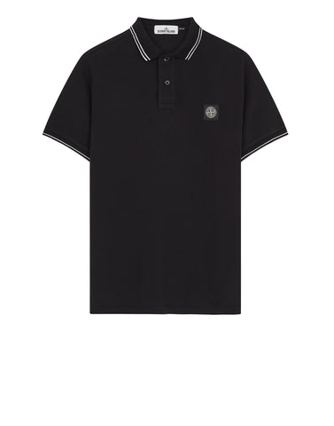 22S18 Slim Fit Polo Shirt in Black