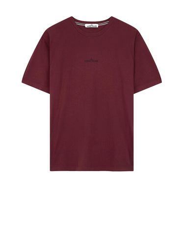 2NS83 DOUBLE PIN T-Shirt in Burgundy