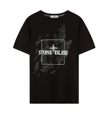 2NS84 INSTITUTIONAL CAMO T-Shirt in Black