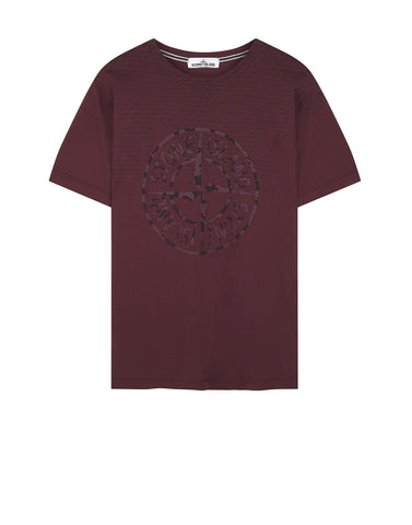2NS85 RUST PIN T-Shirt in BURGUNDY